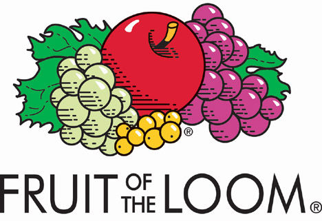 Le logo de la marque de T-shirt : Fruit of the Loom