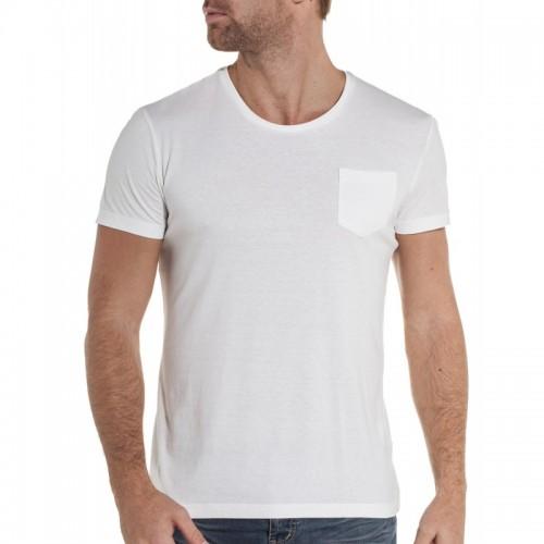 T-shirt pas cher blanc pour homme