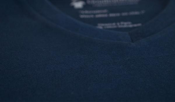 T-shirt uni bleu minéral