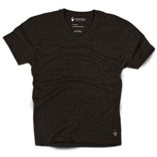T-shirt de qualité noir pour homme