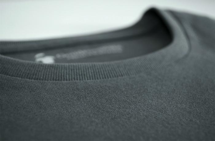 T-shirt épais pour homme - GoudronBlanc