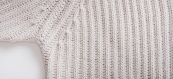 Exemple d'un tricot bien régulier