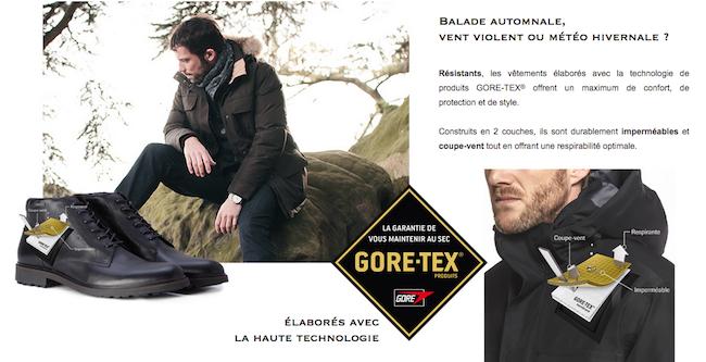Manteau Aigle utilisant Gore-Tex