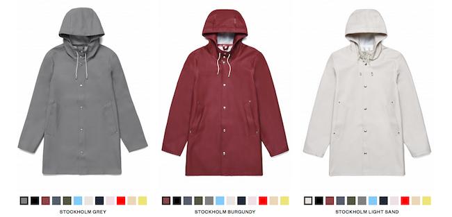 Les manteaux Stutterheim, comparables à la marque Rains