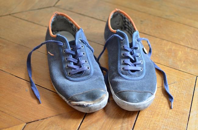 Vieilles sneakers Faguo, modèle Oak