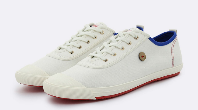super popular bcdff 5ae9b Sneakers Faguo, modèle Oak blanc et bleu