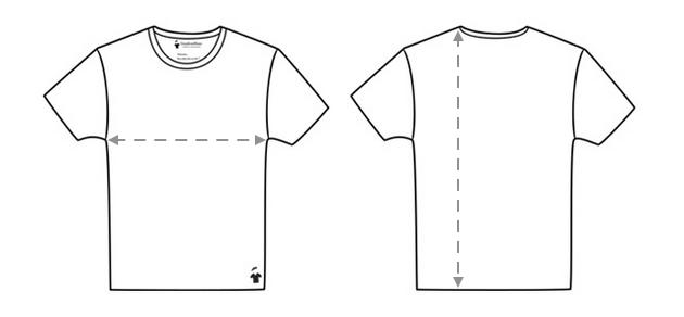 Mesurer la taille des T-shirts GoudronBlanc