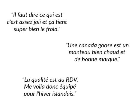 Avis forum : Doudoune Canada Goose