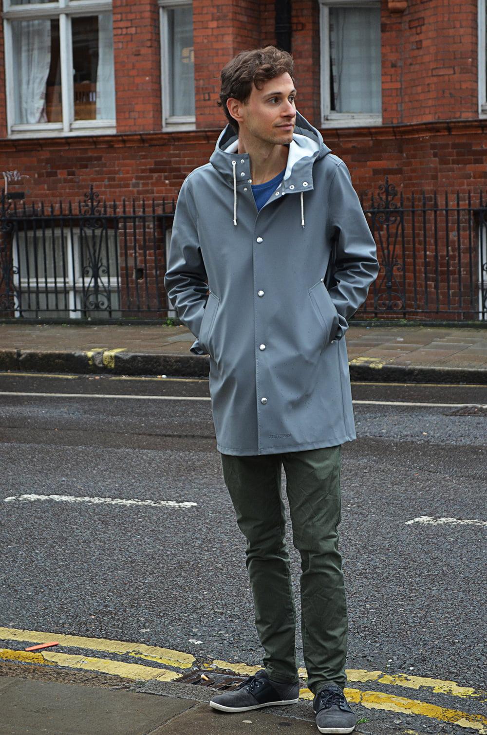 Manteau impermable gris de la marque Stutterheim