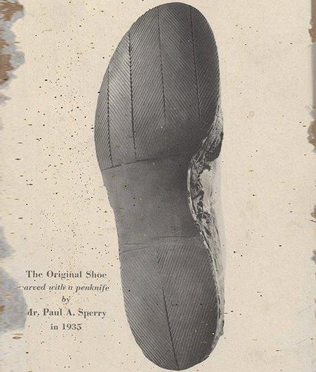 Le premier prototype des chaussures bateau de Paul Sperry