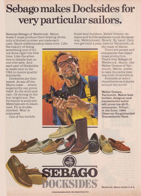 Annonce pour les chaussures bateau Sebago Dockside