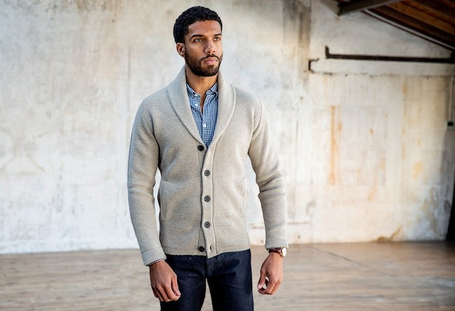 Cardigan grosse maille pour homme - Collection 2017-2018 de BonneGueule