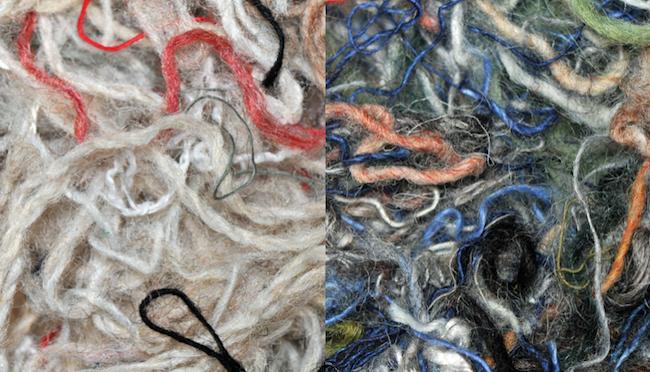 Fibres de laine recyclée