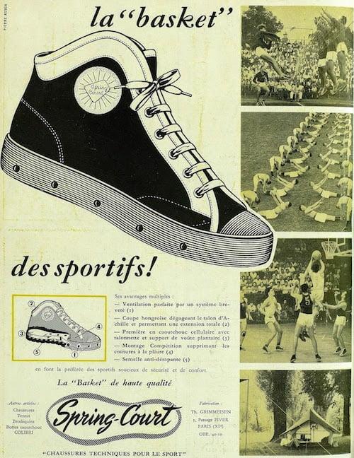 Histoire des baskets de la marque Spring Court