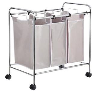 Panier à linge - Tris avec trois compartiments pour le linge de couleur