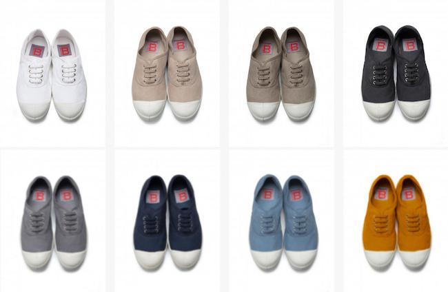 Ces sneakers en toile sont le modèle phare de Bensimon