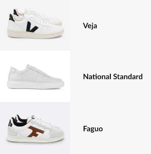 Sneakers de marques francaises : Veja, Natinoal Standard et Faguo