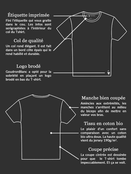 Dessin du T-shirt GoudronBlanc