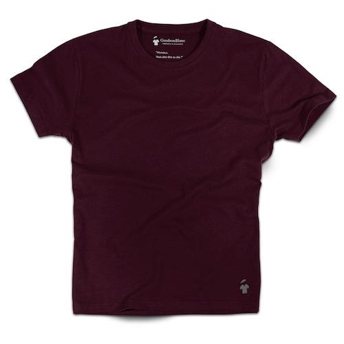 T-shirt rouge bourgogne pour homme - GoudronBlanc
