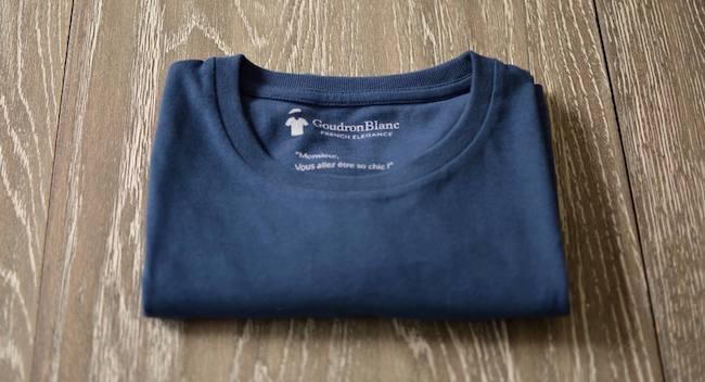Pliage T-shirt homme - GoudronBlanc