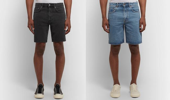 Short en jean pour homme