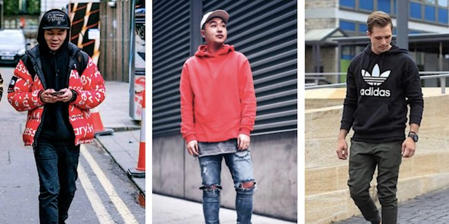 Pull à capuche - Look streetwear homme