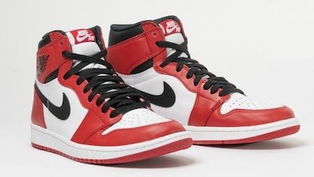 Les sneakers Air Jordan 1 lancées en 1985 par Nike