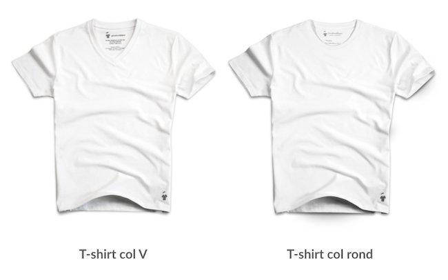 T-shirts français blancs de la marque parisienne GoudronBlanc
