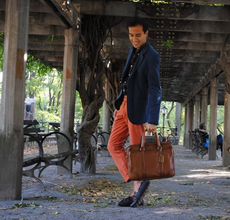 Comment porter pantalon orange homme