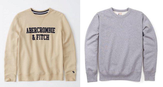 Comparaison sweatshirt uni et sweatshirt graphique