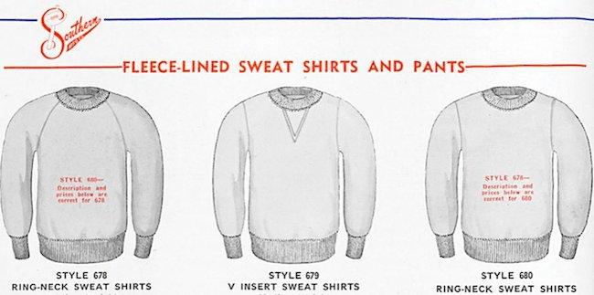 Histoire invention du sweatshirt