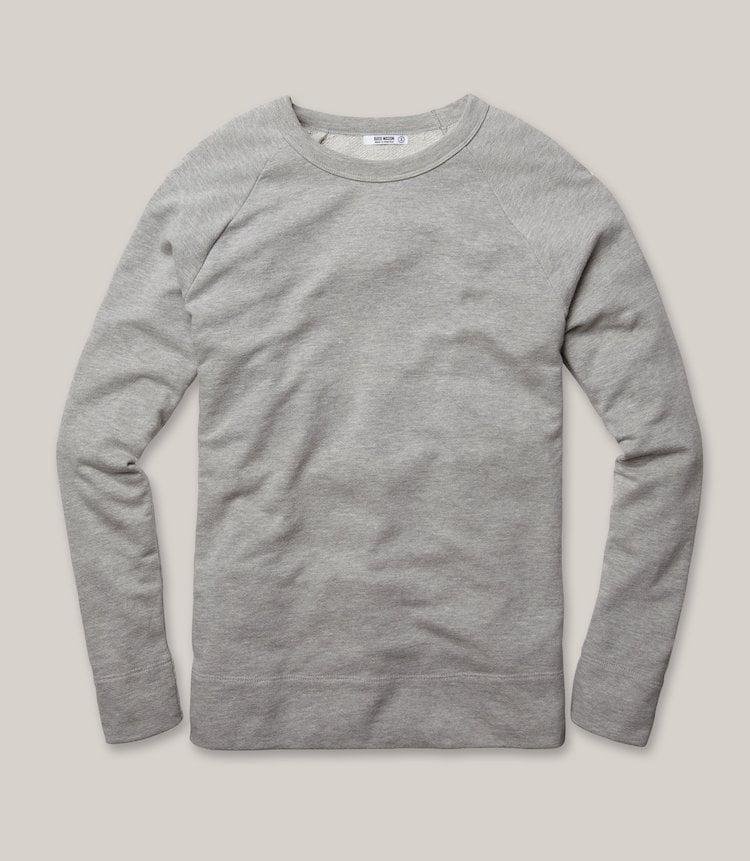 Sweatshirt gris homme - Marque Buck Mason