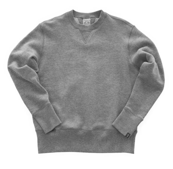 Sweatshirt gris japonais - Marque Loopwheeler