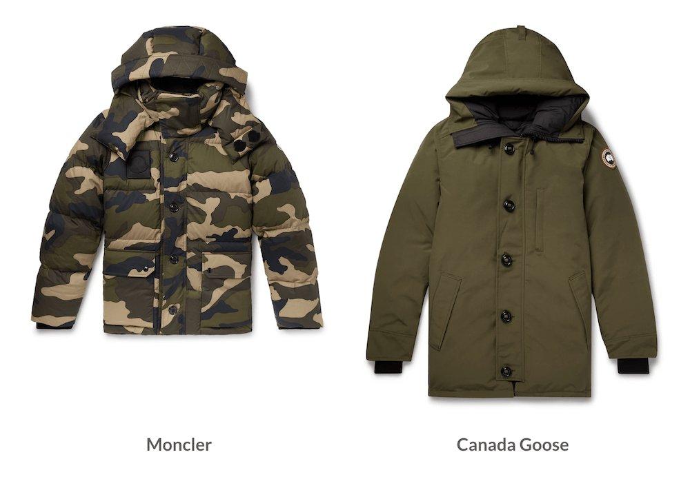 Doudounes Moncler et Canada Goose