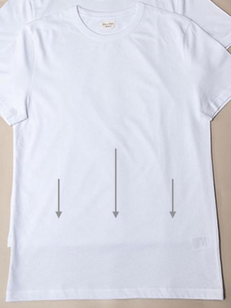 T-shirts blancs - Tissu de mauvaise qualité