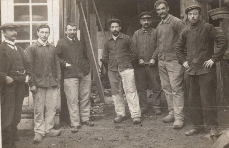 Histoire de la veste bleu de travail
