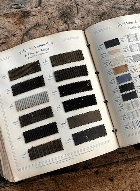 Catalogue de matières moleskine