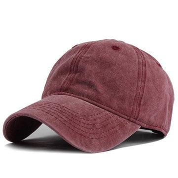 Casquette rouge délavée - Style dad hat