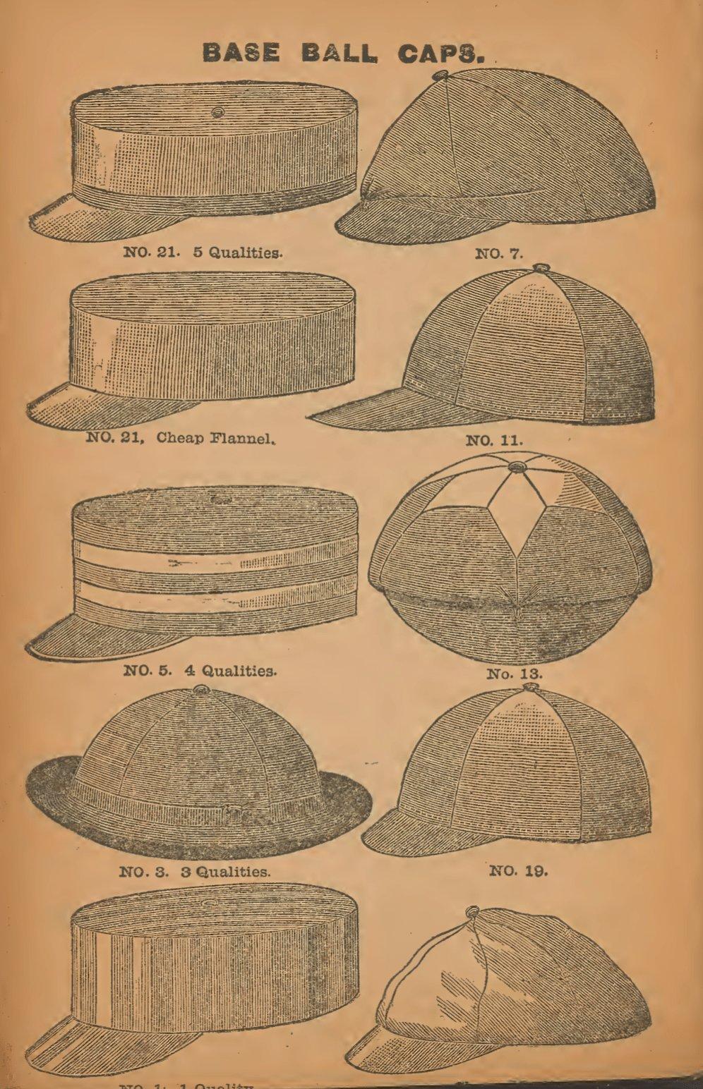 Les casquettes de baseball en 1888 - Guide Spalding