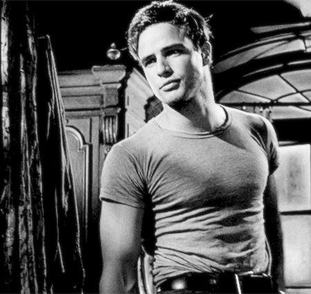 Marlon Brando - Style de T-shirt col rond