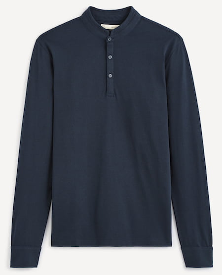 Polo col mao pour homme - Manches longues