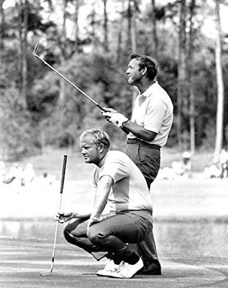 Polo rentré dans le pantalon - Golfeurs Jack Nicklaus et Arnold Palmer