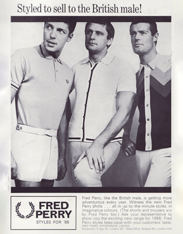 Publicite du polo Fred Perry