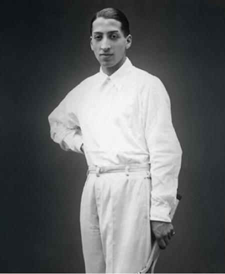 René Lacoste en chemise de tennis - Années 1920