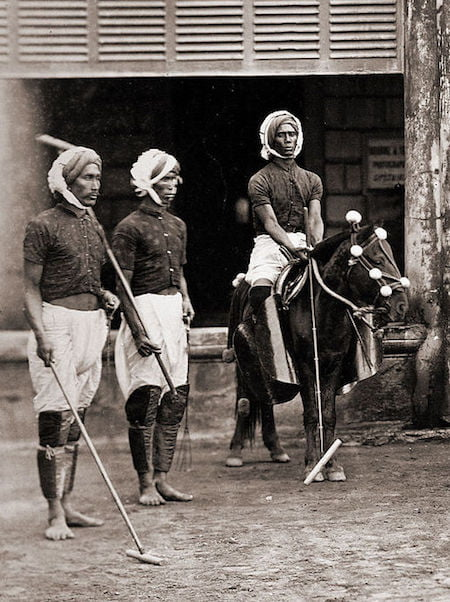Uniforme de sport pour le polo en Inde - 1875