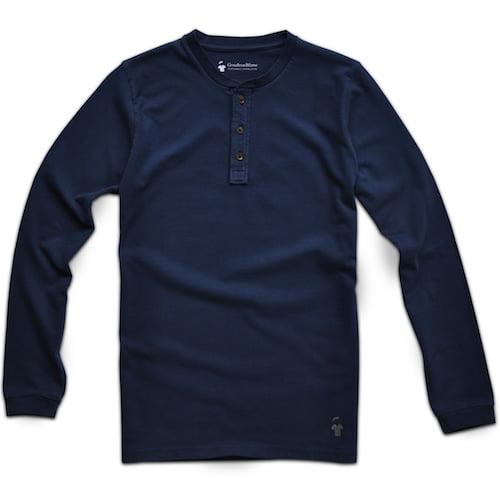 Henley bleu marine pour homme - GoudronBlanc
