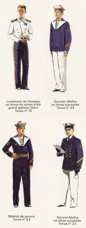 Uniformes de la Marine nationale - Bleu et blanc
