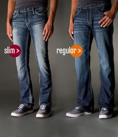 Coupe du jean slim et du jean regular
