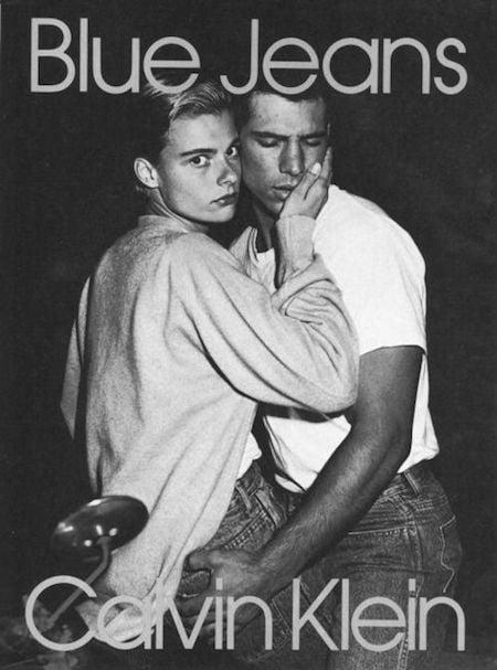 Publicité des jeans de la marque Calvin Kleiin (1980)
