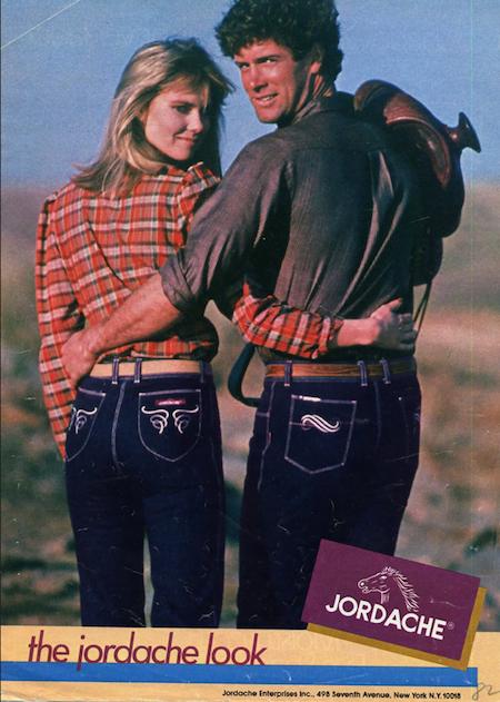 Publicité pour les jeans de la marque Jordache (1970)